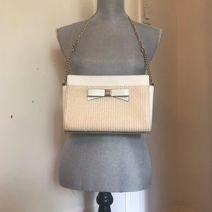 Kate Spade Leather & Wicker Bag